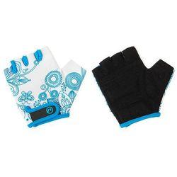 Rękawiczki dziecięce Accent Flowers Kids biało-niebieskie XS
