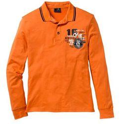 Shirt polo z długim rękawem Regular Fit bonprix pomarańczowy