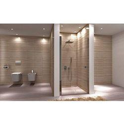 REA UPMYSPACE N Drzwi prysznicowe 100x190, profile chrom, szkło transparentne EasyClean