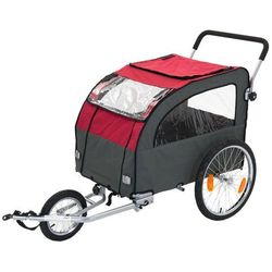 Przyczepka do roweru Globetrotter + Jogging-Kit w zestawie - Dł. x szer. x wys.:162 x 81 x 104 cm / do 40 kg - wraz z Jogging-Kit