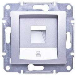 Płytka centralna Schneider Sedna SDN4300360 1xRJ45 do Krone aluminium