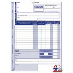 Faktura VAT Michalczyk&Prokop 130-3E - A5, jedna stawka podatku netto (oryginał+kopia)