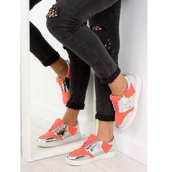 Buty sportowe neonowo lustrzane GQ2336 Orange 40
