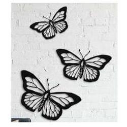 Metalowa dekoracja ścienna Motyle
