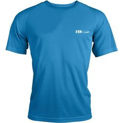 TTK R-NECK CAPSULE BLUE - koszulka tenisowa R. L