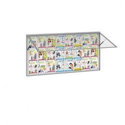 Zewnętrzna gablota, odchylane drzwi, 1800 x 1000 mm