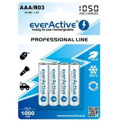 4x akumulatorki everActive R03/AAA Ni-MH 1000 mAh ready to use
