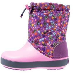 Crocs CROCBAND LODGEPOINT GRAPHIC RELAXED FIT Śniegowce amethyst/party pink