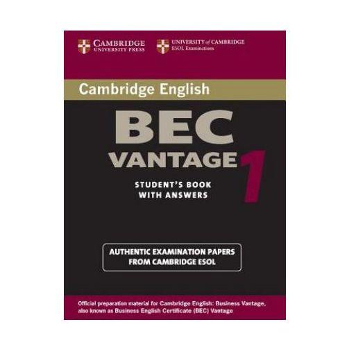 Książki do nauki języka, Cambridge bec vantage-practice tests (opr. miękka)