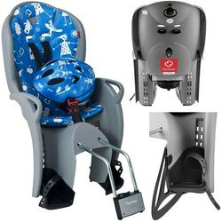 Fotelik rowerowy niebieski HAMAX Kiss + kask