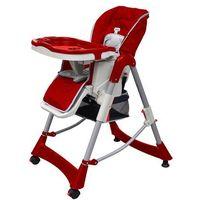 Krzesełka do karmienia, vidaXL Krzesełko dla dzieci do karmienia, z regulowaną wysokością, bordo Darmowa wysyłka i zwroty