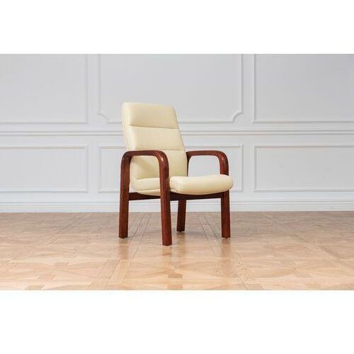 Fotele i krzesła biurowe, Krzesło PROGRESS kremowy
