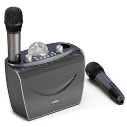 Zestaw do karaoke bluetooth 2x mikrofon + bezprzewodowy głośnik z oświetleniem DISCO
