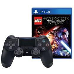 Sony DualShock 4 v2 (czarny) + gra LEGO Gwiezdne Wojny Przebudzenie Mocy - produkt w magazynie - szybka wysyłka!
