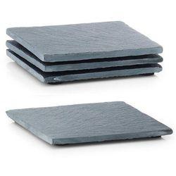 Kamienne podkładki pod kubki, podkładki na stół nowoczesne, eleganckie podkładki na stół, podkładki kwadratowe, dekoracje na stół