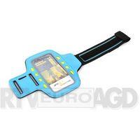 Etui i futerały do telefonów, Platinet Sport LED Armband 43706 (niebieski)