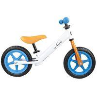 "Rowerki biegowe, Rowerek biegowy Vivo V2.0 12"" EVA white-orange-blue"