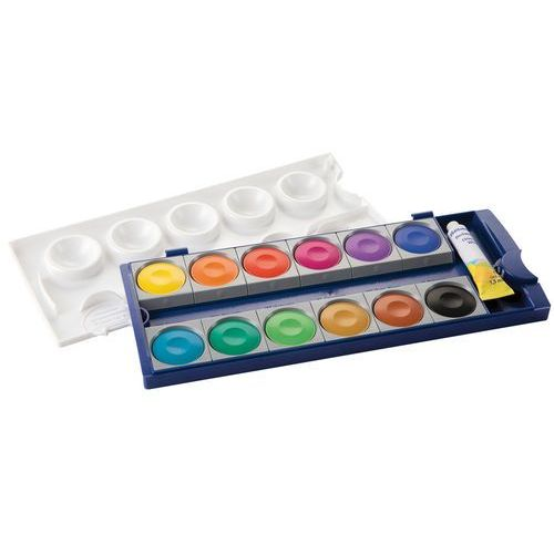 Farbki, Farby wodne Pelikan K12 12 kolorów - Pelikan DARMOWA DOSTAWA KIOSK RUCHU