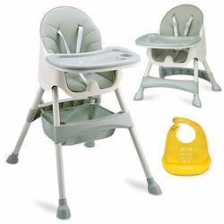 Krzesełko do karmienia ze stolikiem Milo zielone