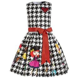Love Made Love CHECKED WITH LITTLE GIRLS Sukienka koktajlowa schwarz/weiß