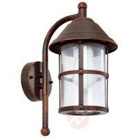 Lampy ścienne, Eglo SAN TELMO zewnętrzne kinkiety Ciemnobrązowy, 1-punktowy - - Dworek - Obszar zewnętrzny - TELMO -