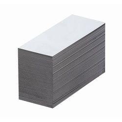 Magnetyczna tablica magazynowa, białe, wys. x szer. 20x80 mm, opak. 100 szt. Zap