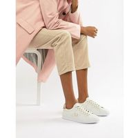 Damskie obuwie sportowe, Fred Perry B721 Leather Trainers With Rose Gold Trim - White