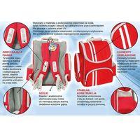 Tornistry i plecaki szkolne, Tornister plecak 6-9lat TIGER FAMILY+śniadaniówka - czerwony