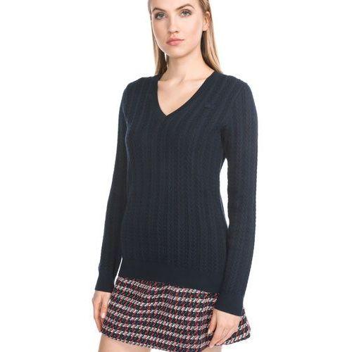 Swetry i kardigany, Lacoste Sweter Niebieski 34