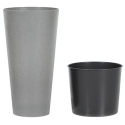 Doniczka Tubus Slim Beton Prosperplast : Średnica - 200 mm, Kolor - Beton