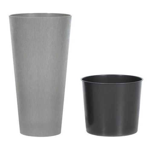 Doniczki i podstawki, Doniczka Tubus Slim Beton Prosperplast : Średnica - 200 mm, Kolor - Beton