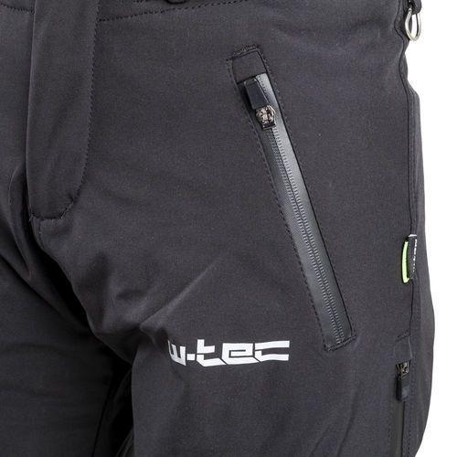 Spodnie motocyklowe męskie, Męskie spodnie motocyklowe soft-shell W-TEC Guslic NF-2801, Czarny, XXL