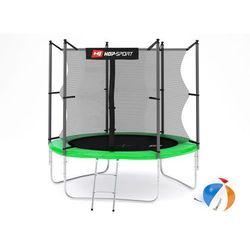 Trampolina 8ft (244cm) zielona z siatką wewnętrzną Hop-Sport - 3 nogi - zielony \ 8ft (244cm)