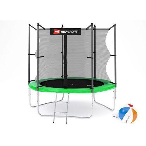 Trampoliny, Trampolina 8ft (244cm) zielona z siatką wewnętrzną Hop-Sport - 3 nogi - zielony \ 8ft (244cm)
