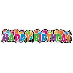 Baner urodzinowy Baloniki Happy Birthday - 26,5 x 132 cm - 1 szt.