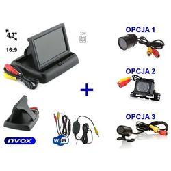 """Zestaw monitor samochodowy LCD 4,3"""" Samochodowa kamera cofania i Bezprzewodowy moduł WiFi"""