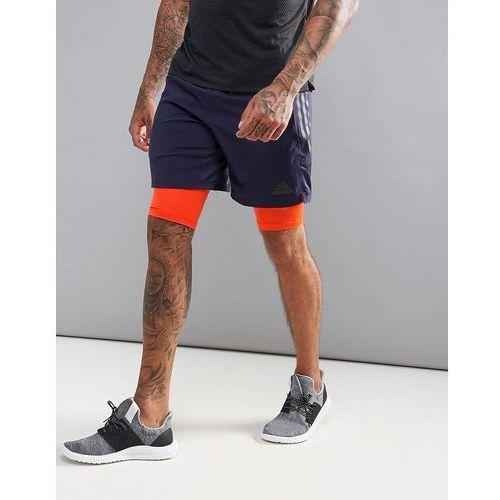 Pozostała odzież męska, adidas Training 2-In-1 Shorts In Navy CD2236 - Navy