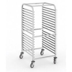 Wózek ze stali nierdzewnej na pojemniki gastronomiczne, 10 poziomów, GN 2/1, 1350x590x670 mm