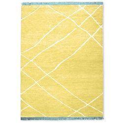 Hkliving ręcznie tkany dywan wełniany żółty (180x280) ttk3072