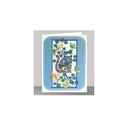 Karnet pm541 wycinany + koperta niebieski kot