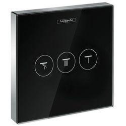 Hansgrohe zawór odcinający dla 3 odbiorników, montaż podtynkowy, element zewnętrzny ShowerSelect Glas 15736600