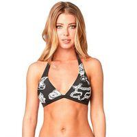 Stroje kąpielowe, strój kąpielowy FOX - Live Fast Fixed Halter Black Vintage (587) rozmiar: XS