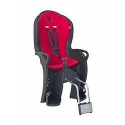 Hamax Kiss siodełko dla dziecka, czarny/czerwony Standard 2021 Mocowania fotelików