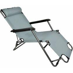 Leżak krzesło plażowe Ibiza ciemnoszary