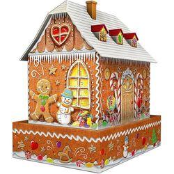 Ravensburger 3D Puzzle 112371 Domek z piernika (Nocna edycja) 216 elementów