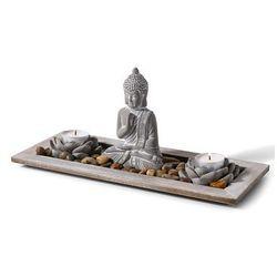 """Dekoracyjna taca """"Budda i świece"""" bonprix jasnoszary"""