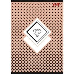 Zeszyt A5 60k krata laminowany DIAMONDS folia soft touch, lakier miejscowy p10 cena za 1szt
