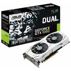 Karta graficzna Asus GeForce GTX 1060 Dual 3GB GDDR5 (192 Bit) 2xHDMI, 2xDP, DVI-D, BOX (DUAL-GTX1060-3G) Darmowy odbiór w 20 miastach!