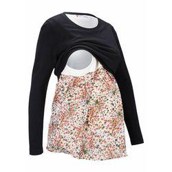 Sweter ciążowy i do karmienia piersią w optyce 2 w 1 bonprix czarny
