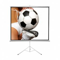 Ekran ręcznie rozwijany na trójnogu Kauber ECONO TRIPOD 152x152cm, 1:1, Matt White